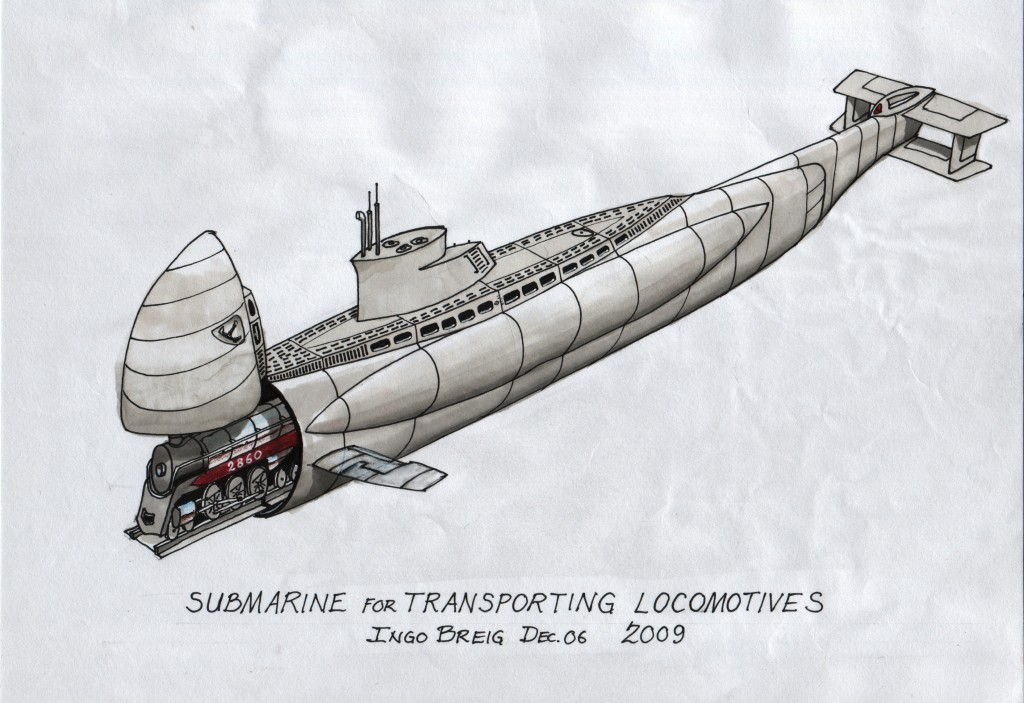SubmarineForTransportingLocomotives