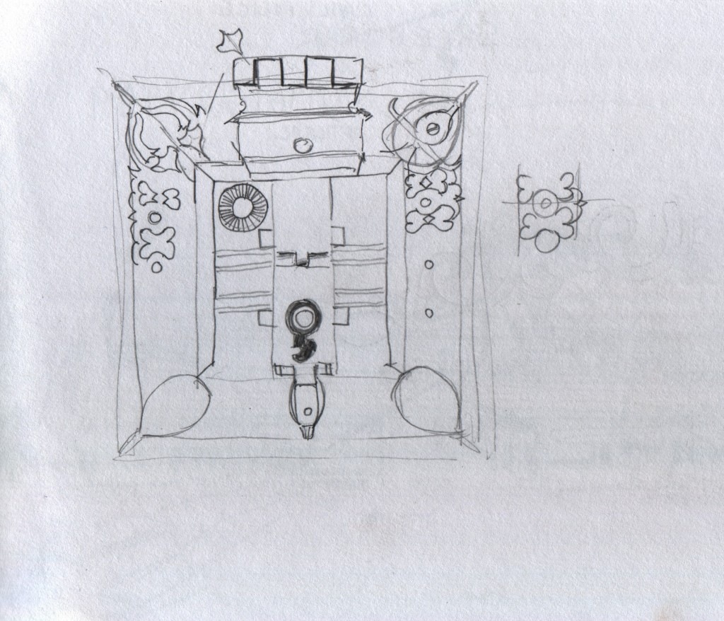 "Lock detail on steel ""mannicchitrattaazhu"" in Ettukettu, Hill Palace Museum, Thripunithura. In Malayalam the lock is called മണിച്ചിത്രത്താഴ് (mannicchitrattaazhu)."